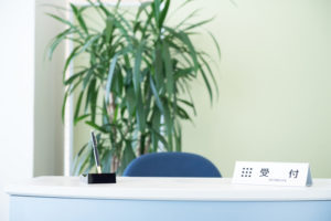 会社のエントランス 観葉植物
